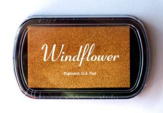Razítkovací polštářek Windflower zlatá,
