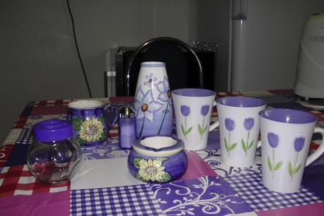 Dekorácie do kuchyne - modré ,