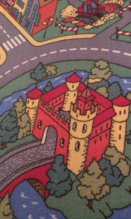 Detský koberec mesto , autodráha ,