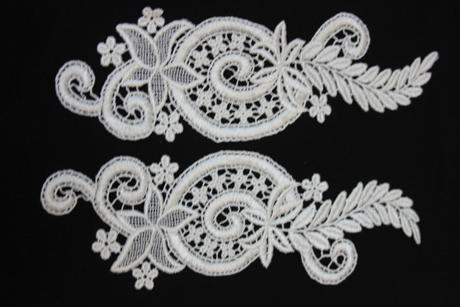 aplikácie na svadobné šaty ,