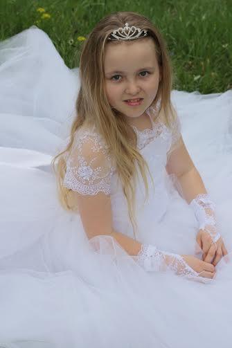 Detské šatky na sv. prijímanie alebo svadbu. Šatky, 134