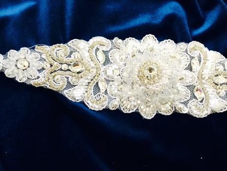 Opasok na svadobné šaty a spoločenské šaty ,
