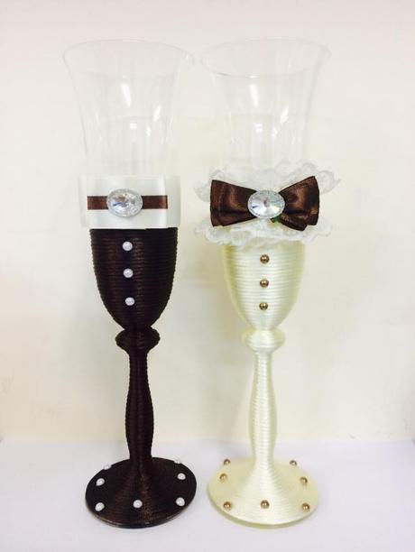 Svadobné poháre s nádychom vintage štýlu,