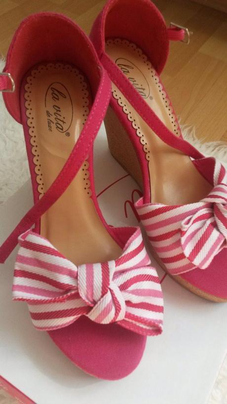 Sandalky s maslou - klinovy podpatok 37, 37