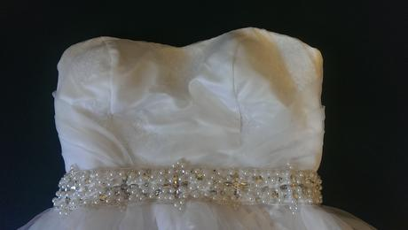 korzetové šaty s vlečkou , 40