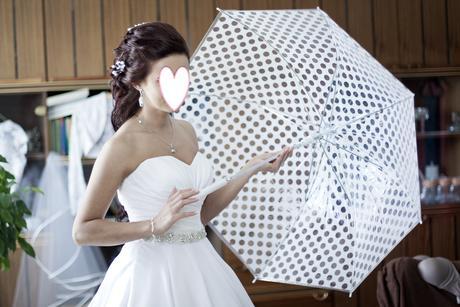 Dazdnik biely svadobny ,