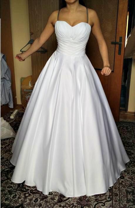 Satenove biele svadobne saty Natasha Azariy, 36