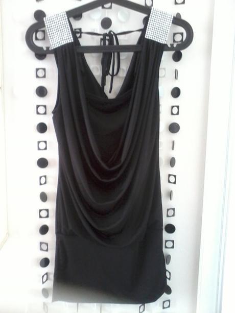 Černé šaty se zdobením vel. XS/S , 36