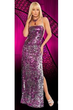luxusní flitrové dlouhé šaty, 34
