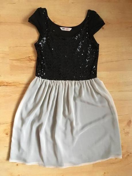 společenské šaty s flitry a šifonem, 34