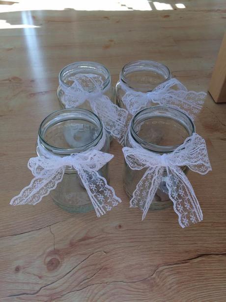 Zavařovací sklenice dekorativní na svatbu,