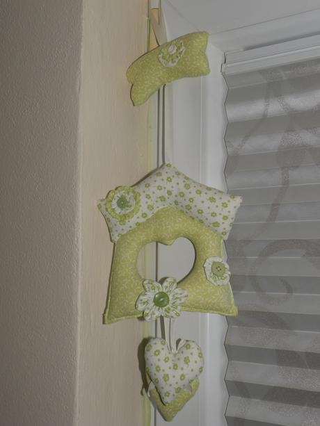 Textilná dekorácia domček,