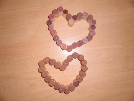 Korek - korkové srdce,