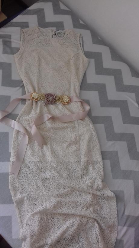 Čipkované vintage šaty s visačkou zn.Mango, 42