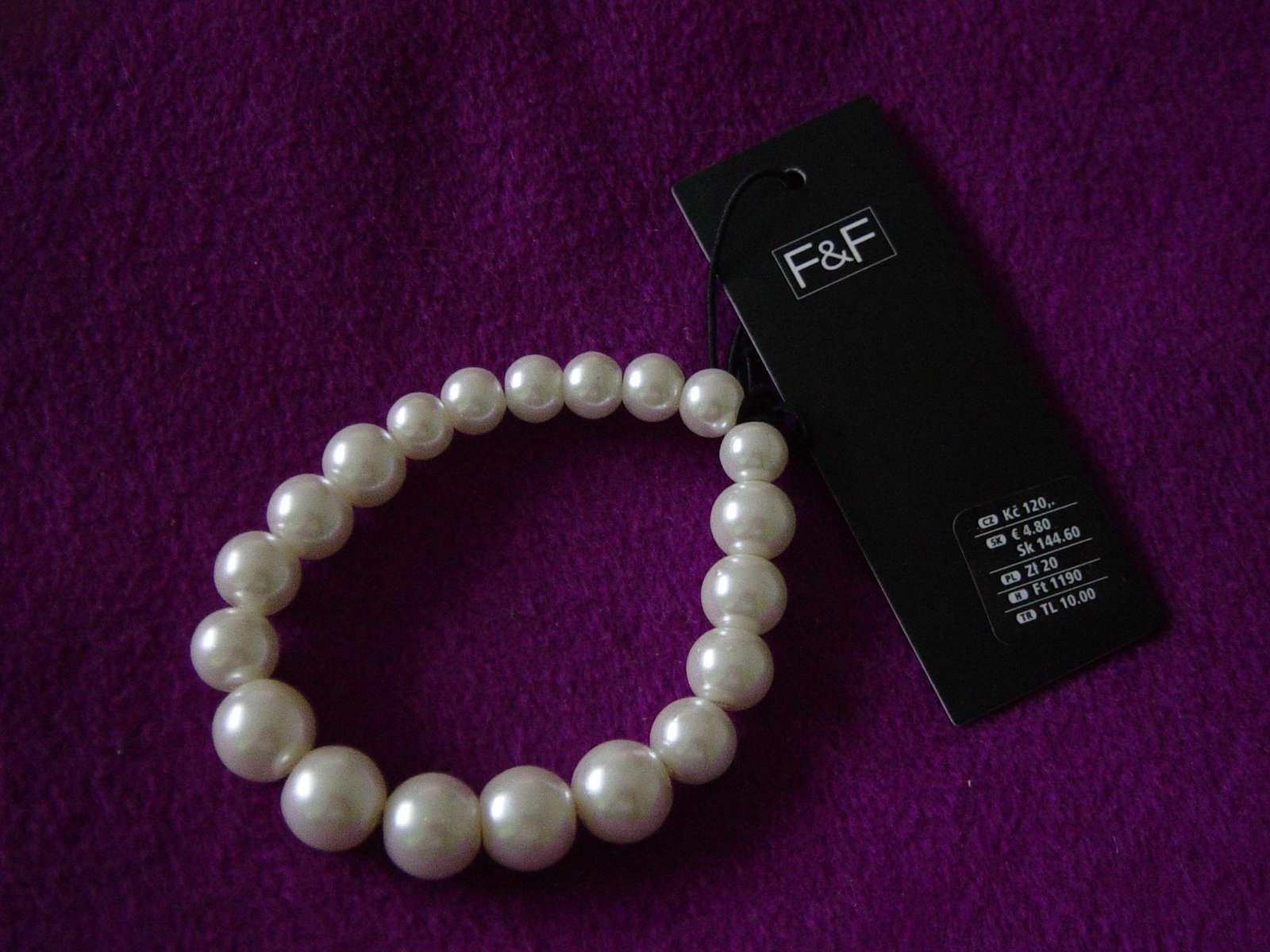 Perličkové náramky - posledný 1 kus 3928a44fea3