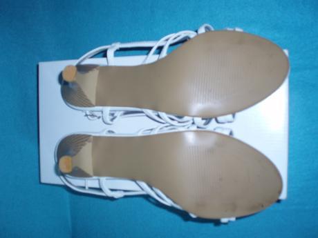 Biele remienkové sandálky, 41