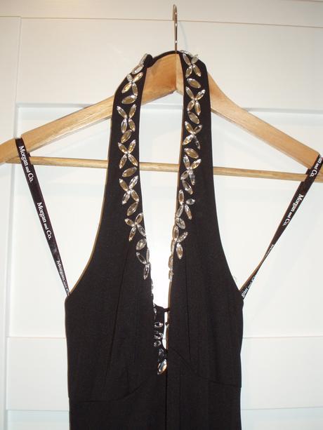 Spoločenské šaty s kryštálikmi, XS