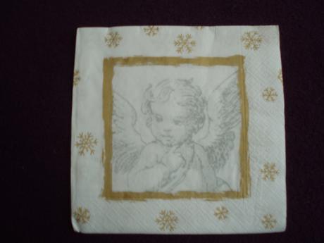 Zlato biele anjelikové servítky (40 ks),