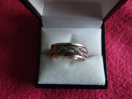 strieborny pansky prsten,