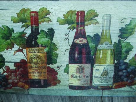 Drevený obraz  32 x 16 cm,