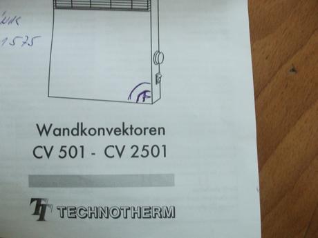 Technotherm-el. špirála do konvektora,
