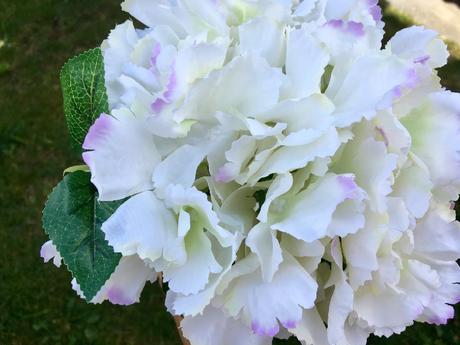 hortenzie bílé žíhané hortenzie veliké umělé,