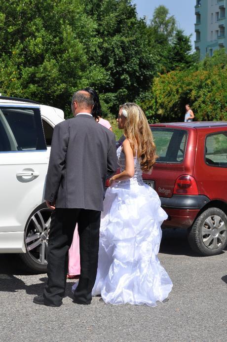 Luxusní bílé svatební šaty S-M 36/38  , 38