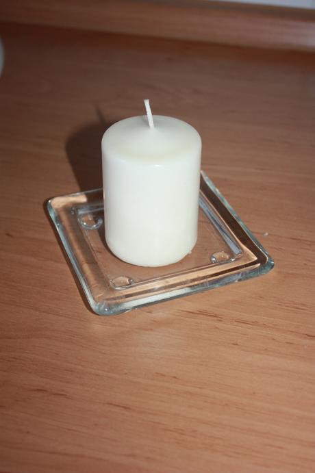 podnos pod sviečku, hranatyý, Ikea,