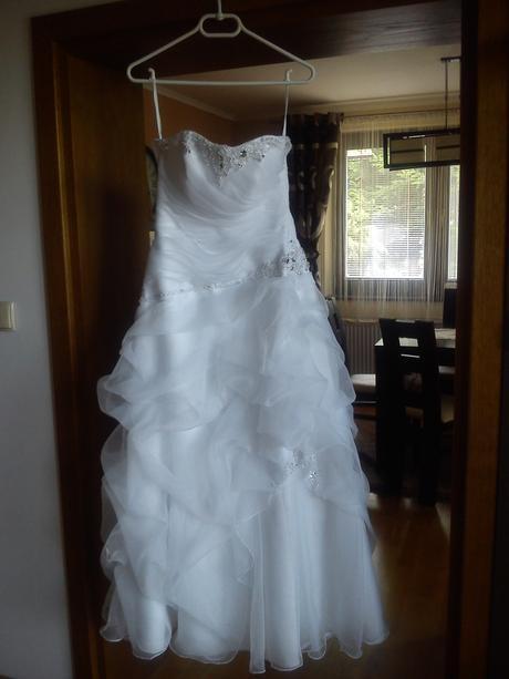 Svadobné šaty 34-38 so spodničkou s kruhom, 36