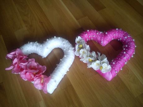Svadobné srdcia na dekoráciu,