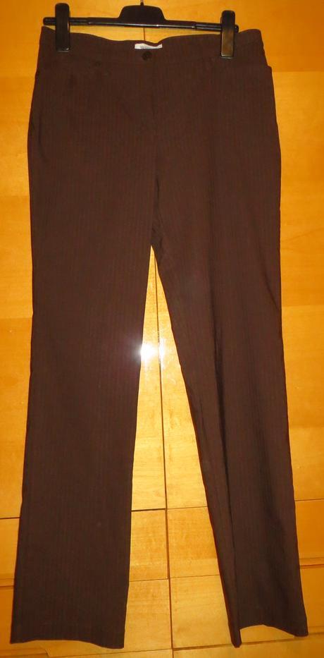 Hnědé společenské kalhoty, 40-41,natahovací , 40