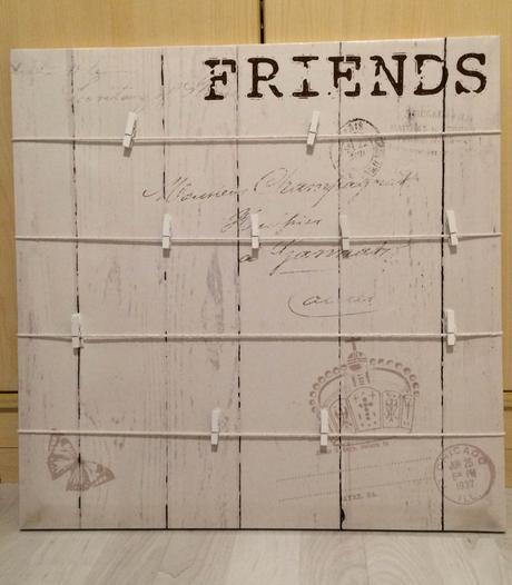Tabule k zavěšení fotek LOVE/FRIENDS,