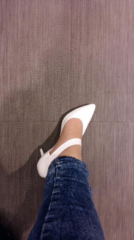 Biele svadobne topánky 40-41 zn. Baťa, 40