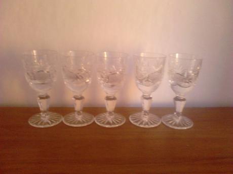 Krištálové poháriky,
