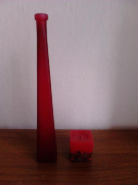 Váza + sviečka,