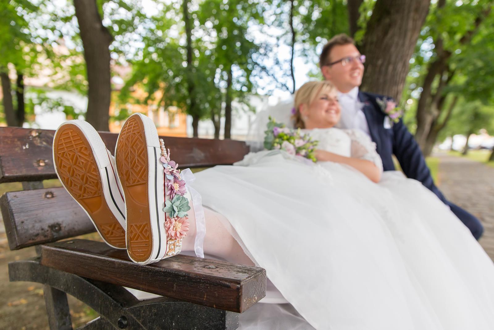 a07f671b03779 Svadobné kvetované tenisky, 35 - 22 €   Svadobný bazár   Mojasvadba.sk