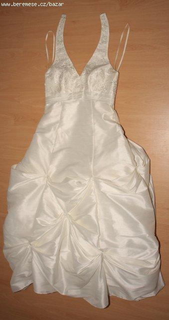 Svatební šaty s vlečkou vel. 40-42, 40