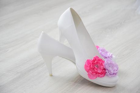 Biele topánky - svadobné 40-41, 40