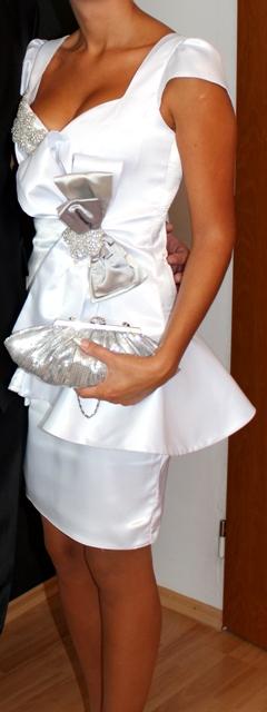 Originálne spoločenské/svadobné šaty, veľkosť S, 36