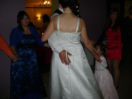 Svadobné šaty+kabátik+spodnica, 44