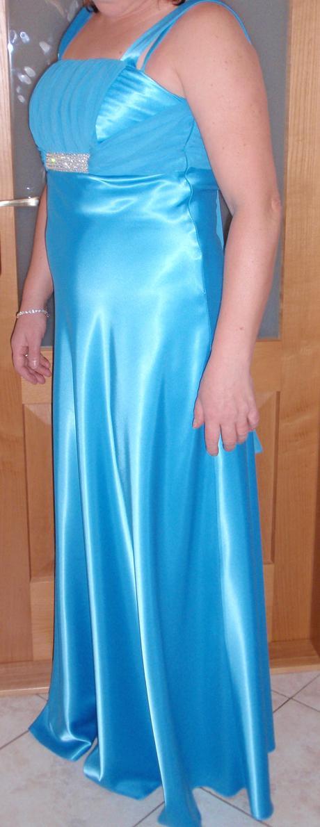 svetlo- modré šaty veľ.42, 42