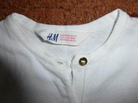 Biely svetrík zn. H&M c. 98/104, 104
