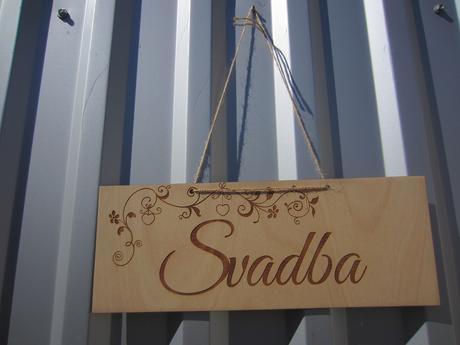 Tabuľka - SVADBA,