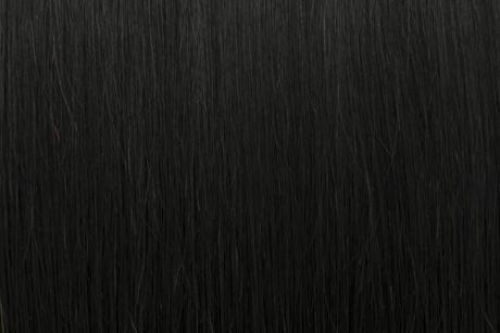 Ľudské Clip in vlasy Ebenovo čierna 50cm,