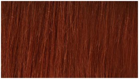 Ľudské Clip in vlasy Jantárovo červená 50cm a 60cm,