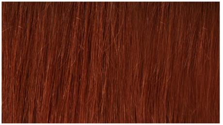 Ľudské Clip in vlasy Jantárovo červená 60cm,