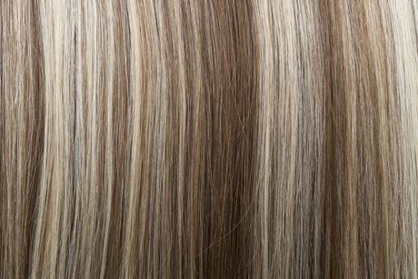 Ľudské Clip in vlasy Tmavý melír 50cm,
