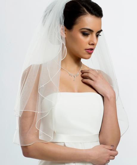 Perličkový svadobný závoj,