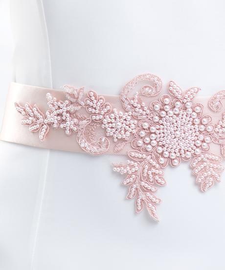 Ružový opasok na svadobné šaty,