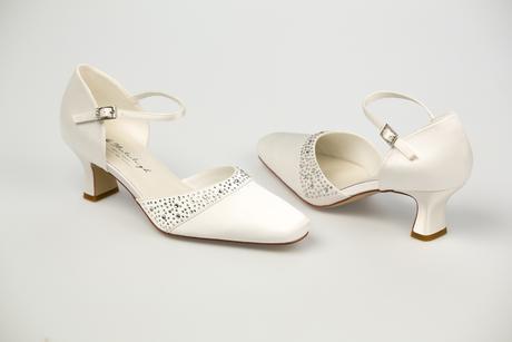 Svadobné topánky Sabrina - posledné kusy, 40